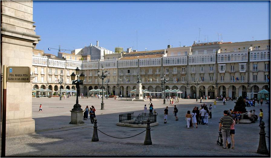 spanjemijnland | Coruña Plaza Maria Pita