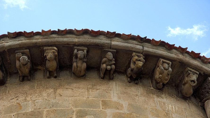 spanjemijnland   Colegiata de San Pedro, erotische kerk in Cervatos