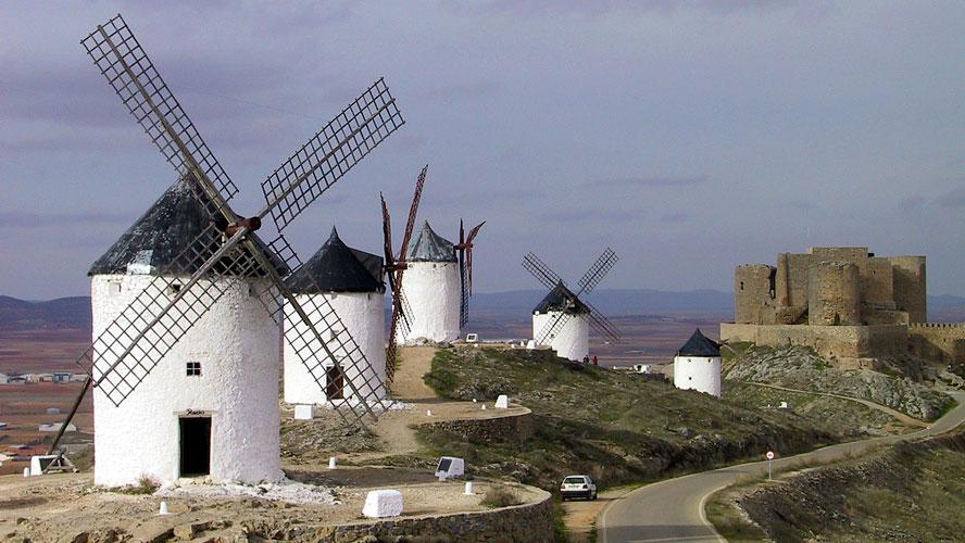 spanjemijnland   de molens bij Consuegra