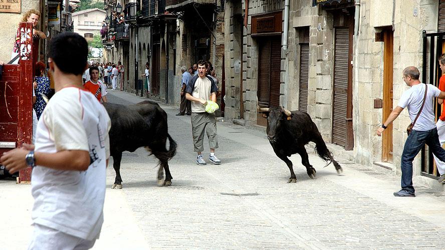 spanjemijnland | stierenrennen in Puenta la Reina